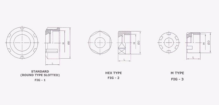 Round  Hex  U0026 M Type Nuts I Turnmax Machine Tools